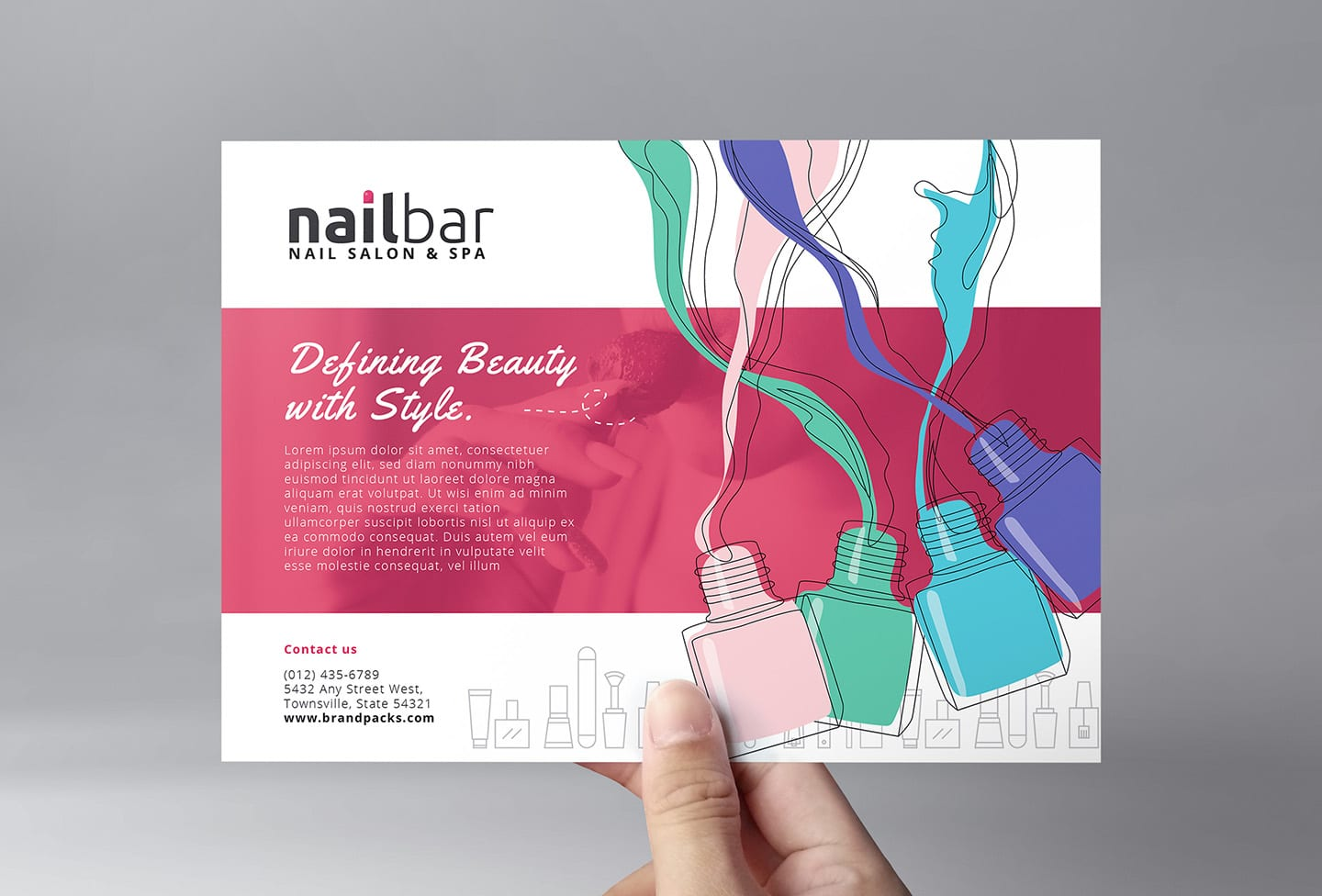 Nail Salon Flyer Template In Psd Ai Vector Brandpacks