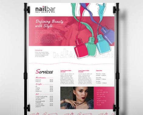 Nail Salon Poster Template