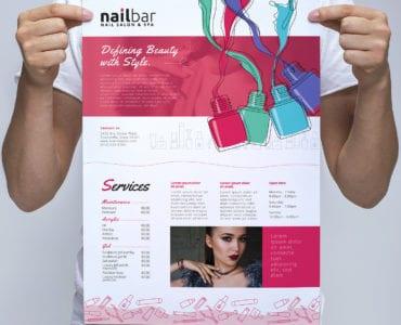 Nail Salon Poster Template