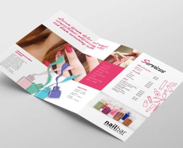 Nail Salon Tri-Fold Brochure Template