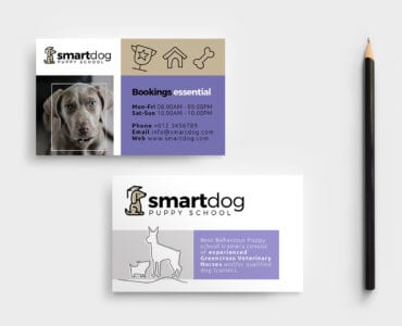Puppy School Business Card Template