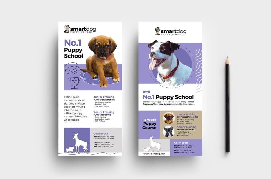 Puppy School DL Rack Card Template