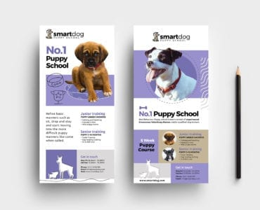 Puppy School DL Rack Card Template