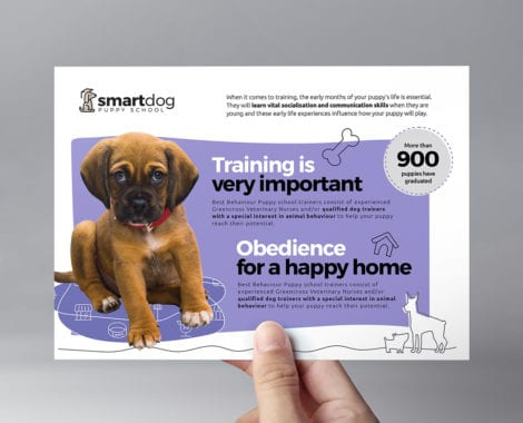 Puppy School Flyer Template