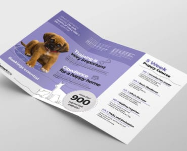 Puppy School Tri-Fold Brochure Template