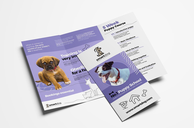 Puppy School Tri-Fold Brochure Template