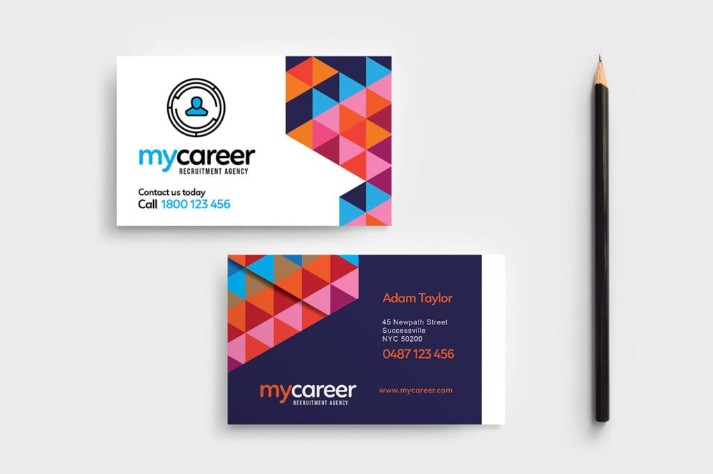 Recruitment Agency Business Card Template