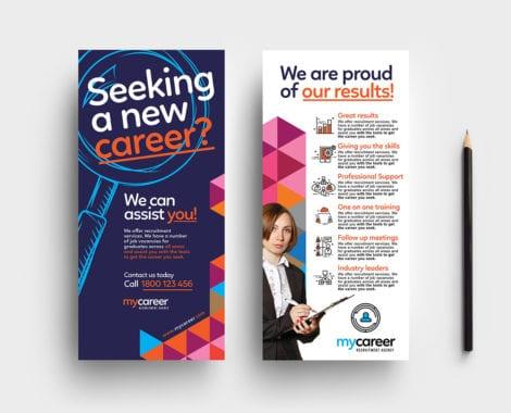 Recruitment Agency DL Rack Card Template