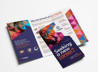 Recruitment Agency Tri-Fold Brochure Template