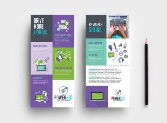 SEO Agency DL Rack Card Template