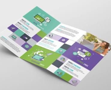 SEO Agency Tri-Fold Brochure Template