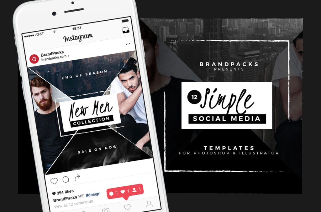 Simple Social Media Templates Pack
