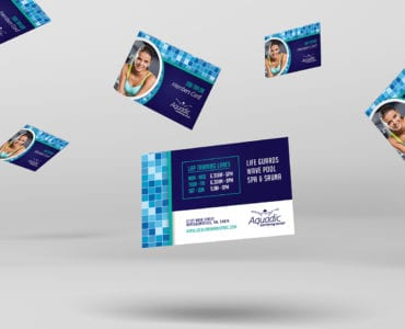 Swimming Centre Business Card Template