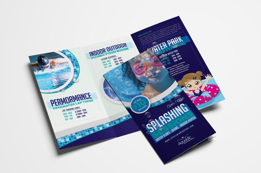 Swimming Centre Tri-Fold Brochure Template