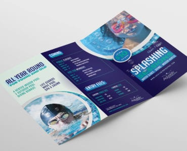 Swimming Centre Tri-Fold Brochure Template