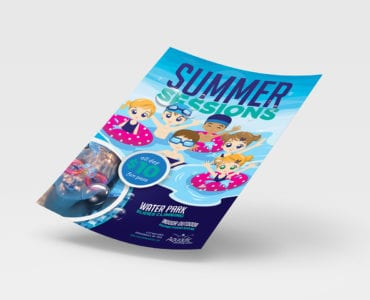 Swimming Lessons Poster Template