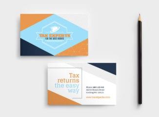 Tax Service Business Card Template
