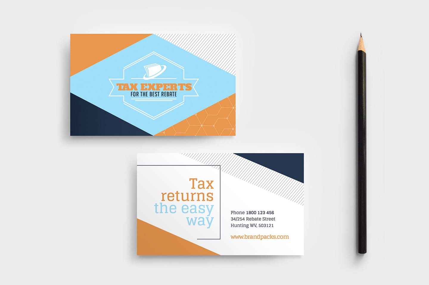Tax Service Business Card Template