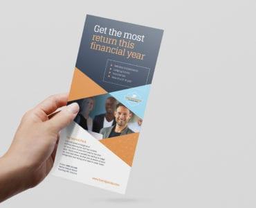 Tax Service DL Rack Card Template