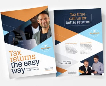 A4 Tax Service Poster / Advertisement Template