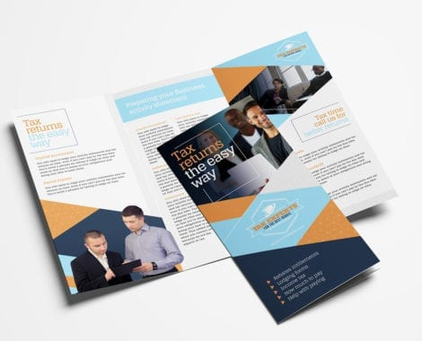 Tax Service Tri-Fold Brochure Template