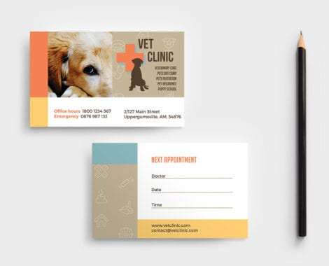 Vet Clinic Business Card Template