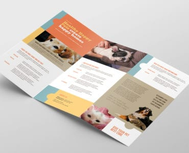 Vet Clinic Tri-Fold Brochure Template Inside