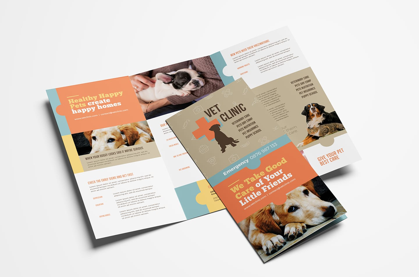Vet Clinic Tri-Fold Brochure Template in PSD, Ai & Vector ... on veterinary referral form template, we love your pets template, veterinary job application template, veterinary new client form template, veterinary newsletter ideas, veterinary medical form template,