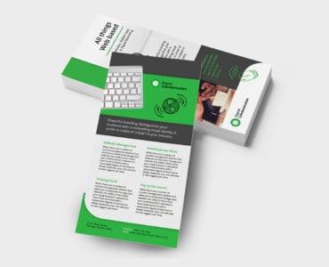 Web Designer DL Rack Card Template