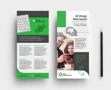 Web Designer DL Rack Card Template
