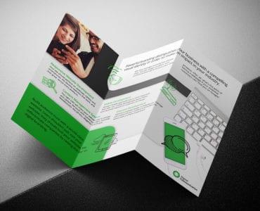 Web Designer Tri-Fold Brochure Template