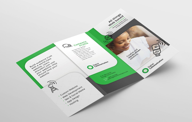 Web Designer Trifold Brochure Template in PSD, Ai & Vector - BrandPacks