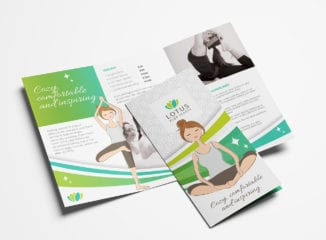 Yoga Studio Tri-Fold Brochure Template