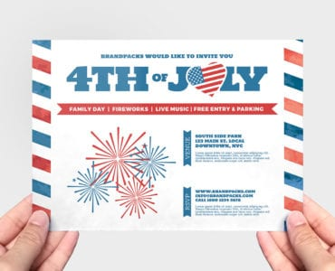 Traditional 4th July Flyer Template