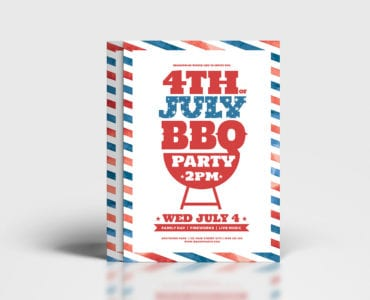 Traditional 4th July Poster Template
