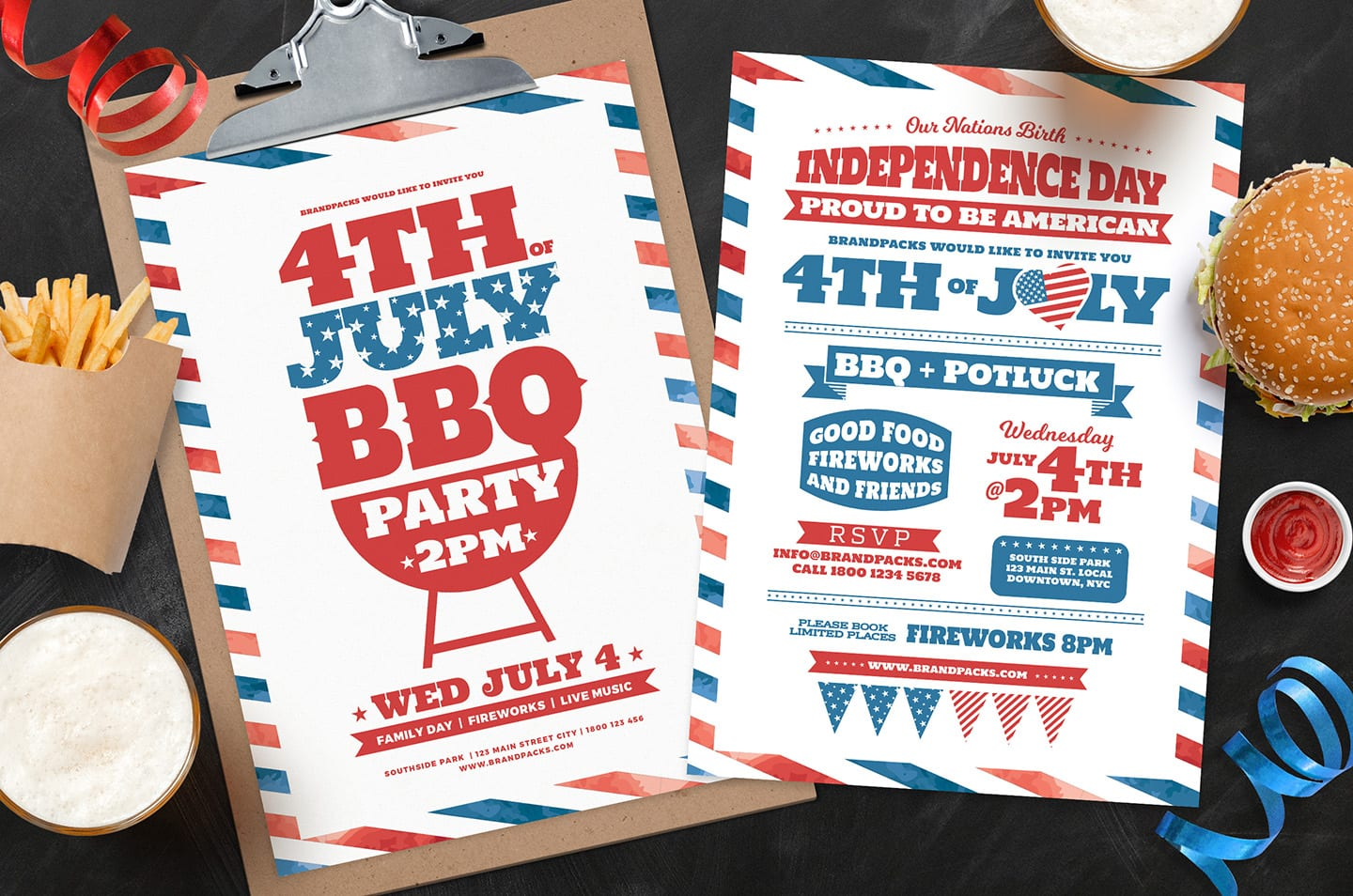 Traditional 4th July Poster Templates