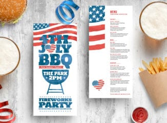 4th of July DL Rack Card Template
