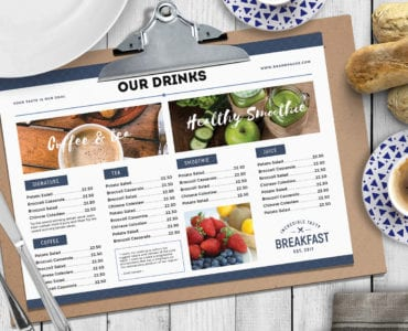 Landscape Brunch Menu Template