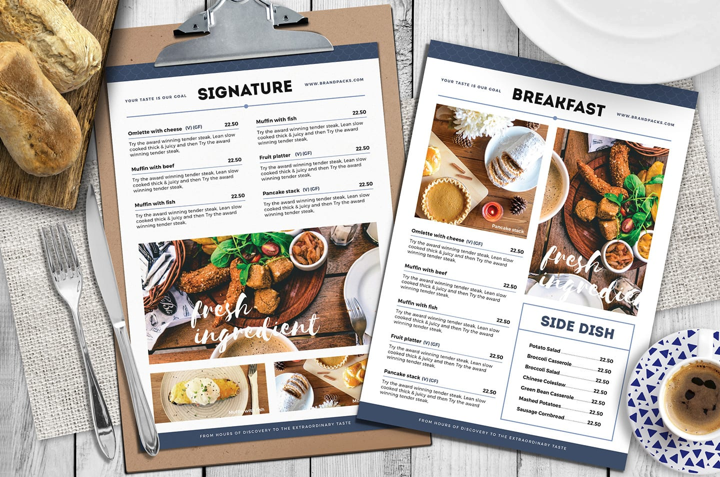 A4 Brunch Menu Templates in PSD, Ai & Vector