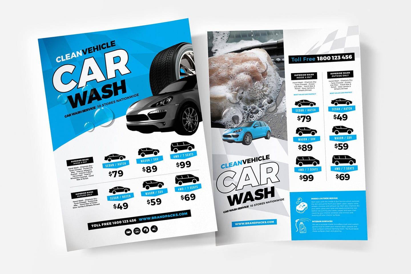 A4 Car Wash Poster /Advertisement Template