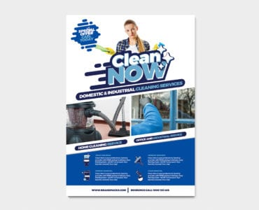 A4 Cleaning Service Poster Template
