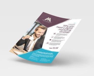 A4 Digital Marketing Poster / Advertisement Template