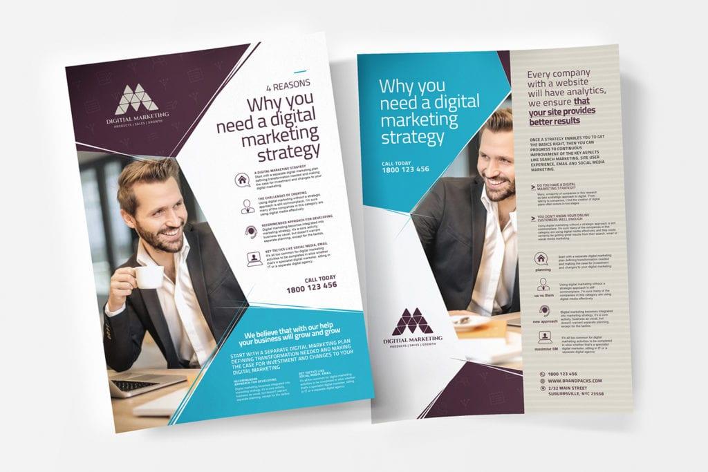 A4 Digital Marketing Poster / Advertisement Template
