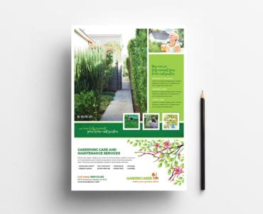A4 Gardening Service Poster Template