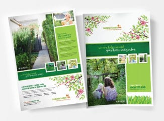 A4 Gardening Service Poster Templates