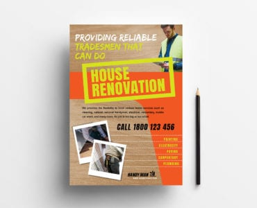 A4 Handyman Poster / Advertisement Templates