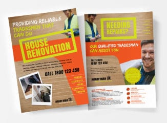 A4 Handyman Poster / Advertisement Templates