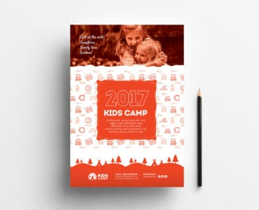 A4 Kid's Camp Poster / Advertisement Template