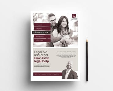 A4 Law Firm Poster Template