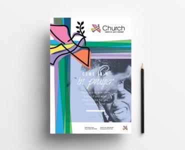 A4 Modern Church Poster Template